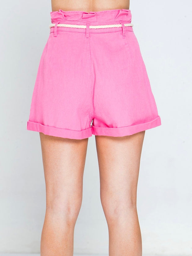Pink Paper Bag Short Bottom