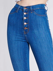 High-Waisted Jeans Bottoms