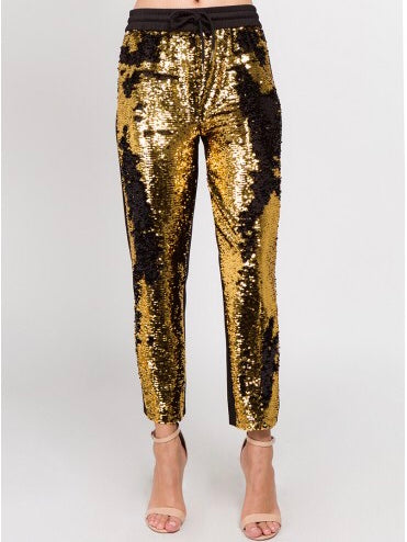 Sequins Track Pants Bottoms