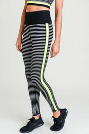 Neon Pop Stripe Legging
