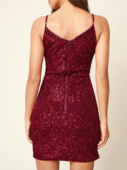 Cherita Surplice Sequin Dress