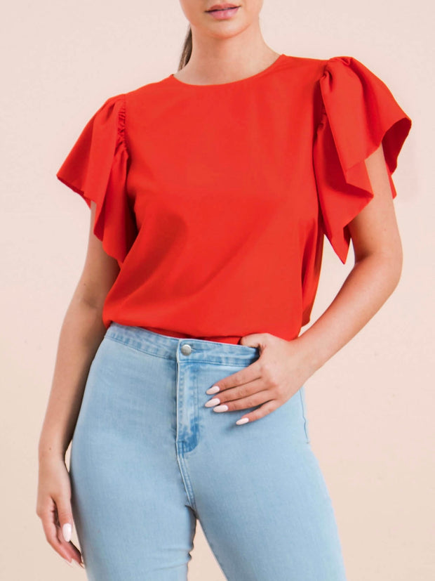 Red Grace Top