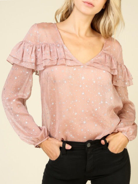 Star Long Sleeve Top