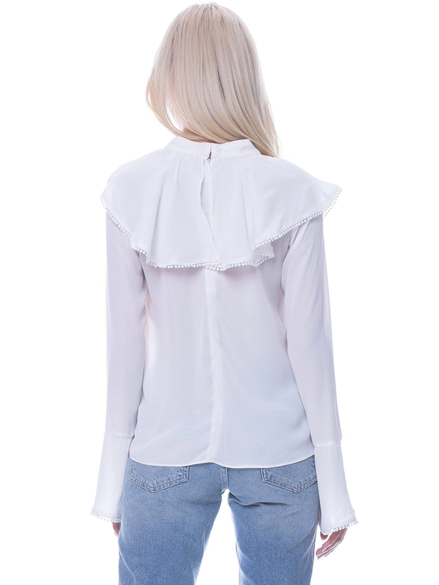 Off White Ruffles Top