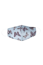 Kids Blue Butterfly Print Face Mask