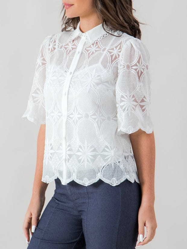 Mariam Lace Shirt Top