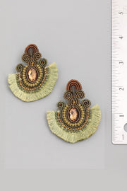 Boho Tassel Fan Earrings