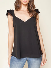 Carleigh Lace Trim Top