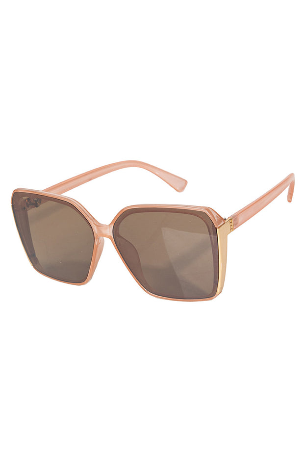Nude Oversized Acetate Square Sunglasses
