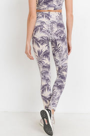 Highwaist Purple Palms Full Leggings