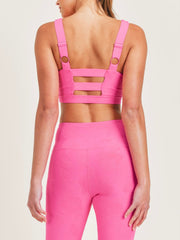 Textured Roses Sports Bra