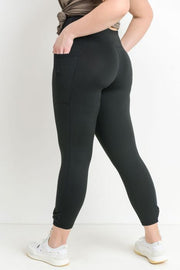 PLUS Bow Accent Highwaist Full Leggings