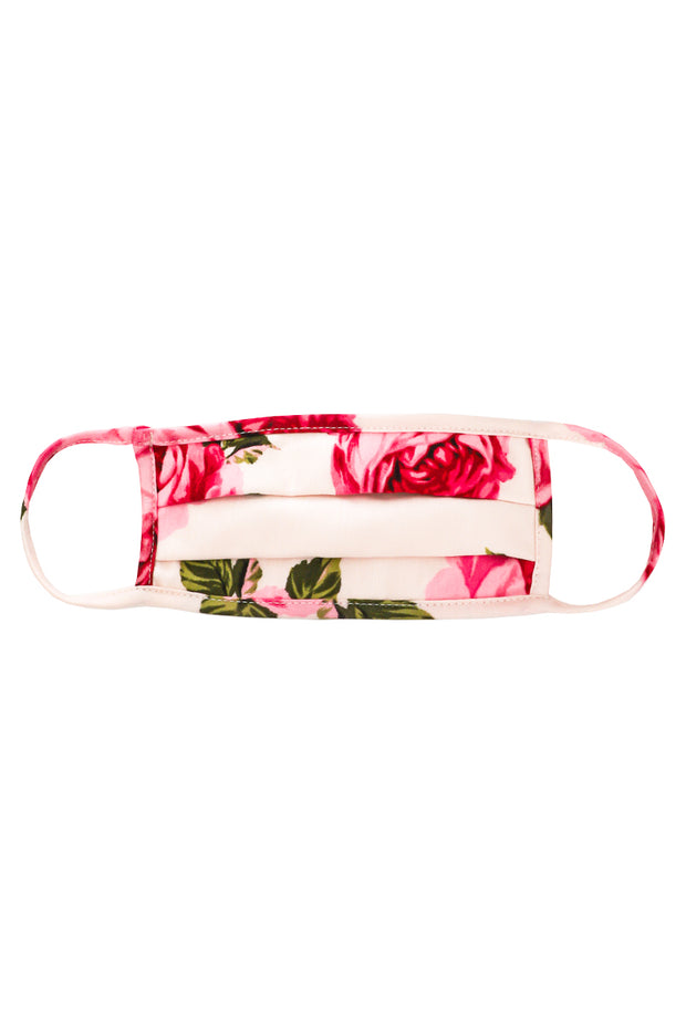 Rose Print Face Mask