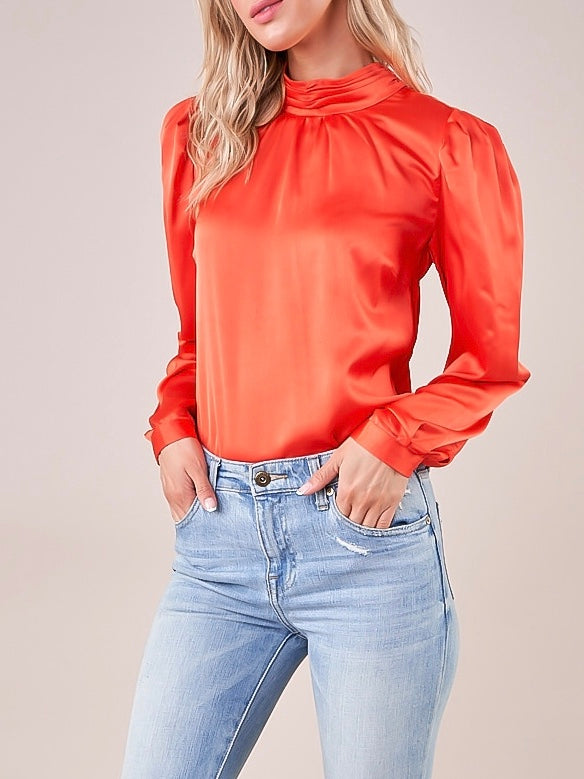 Jazlyn Mock Neck Blouse