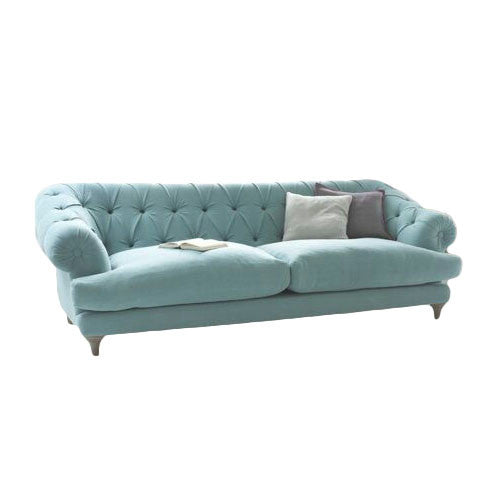 Touchwood Interior Bagsie 3 Seater Suede Velvet Fabric Sofa