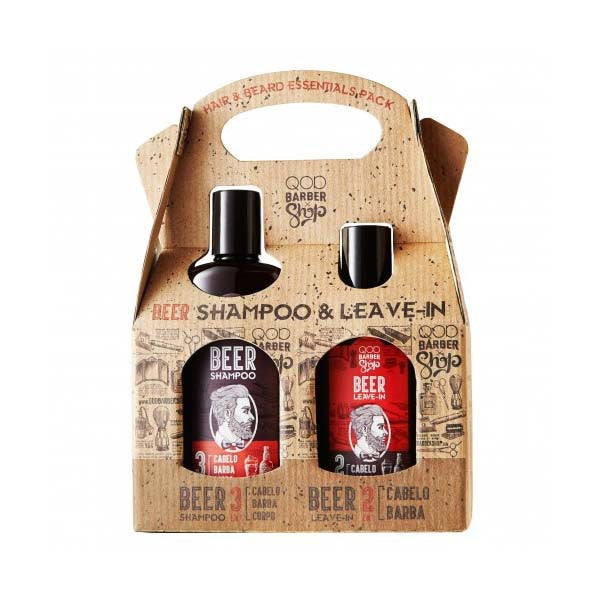 Qod Barber Shop Kit Beer Shampoo & Leave-In