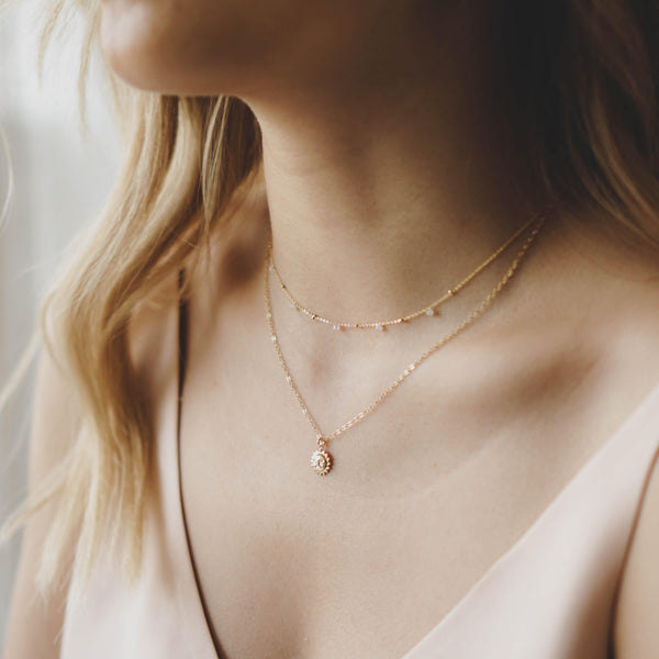 Dainty Sun Necklace - 14K Gold Filled