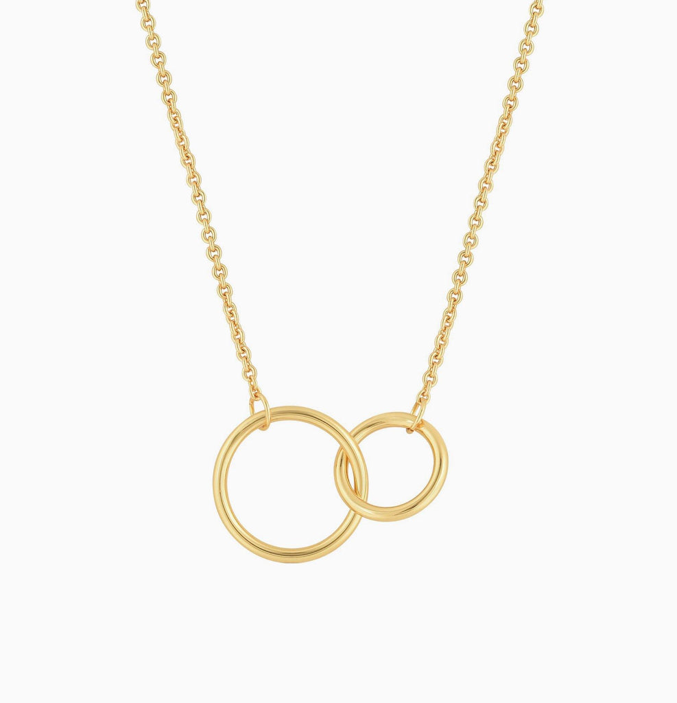 Linked Hoops Interlocking Circles Infinity Necklace - 14K Gold Filled - Studdedheartz