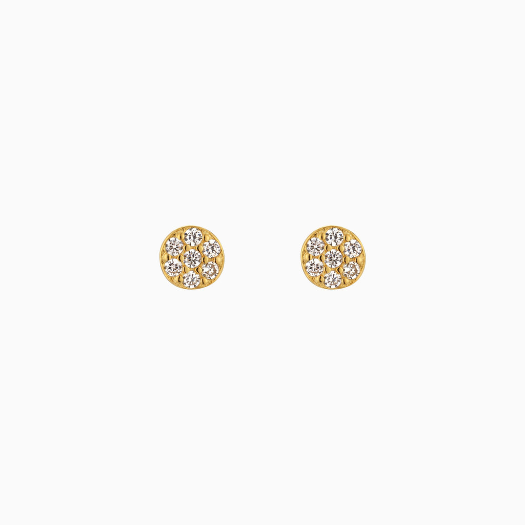 Teeny Tiny CZ Circle Stud Earrings - Studdedheartz