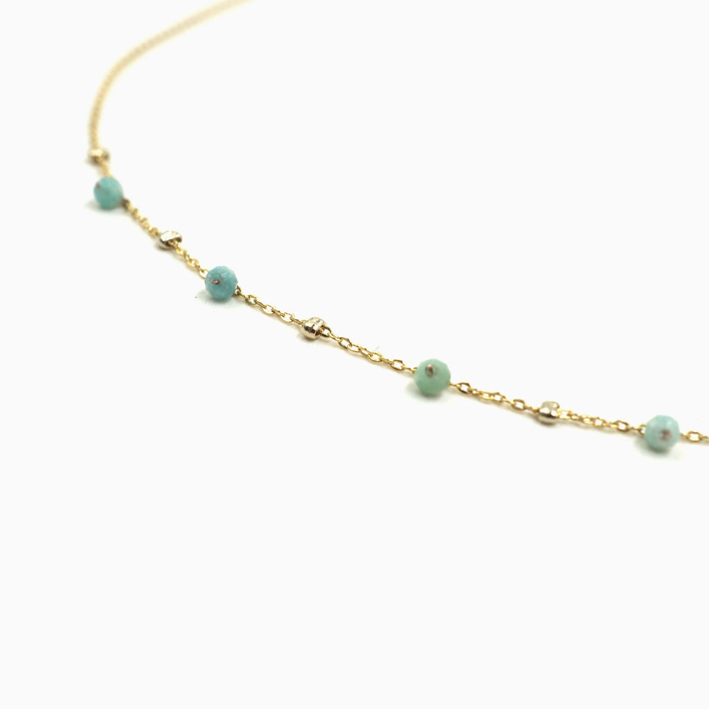 Natural Amazonite Twinkle Satellite Necklace