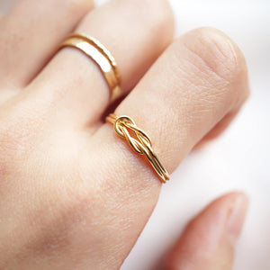 Double Wire Knot Ring - 14K Gold Filled