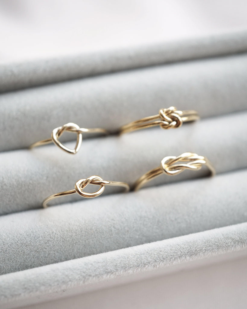 Single Heart Knot Ring