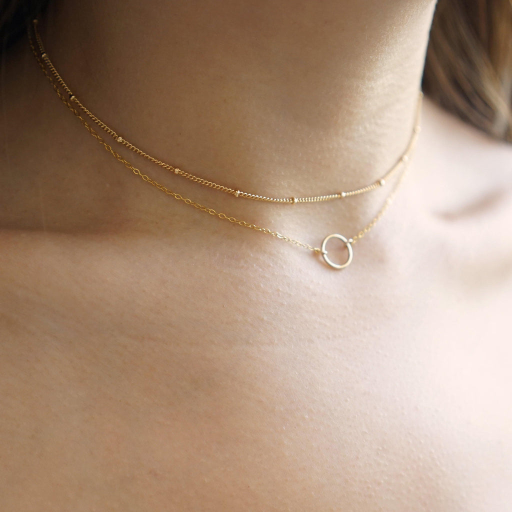 Karma Dainty Circle Necklace