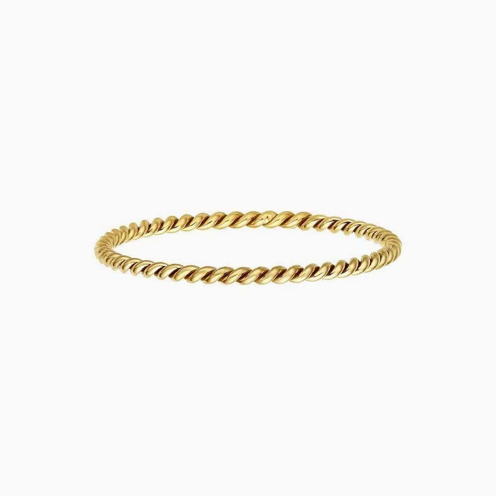 Thin Stacking Twist Ring - 14K Gold Filled