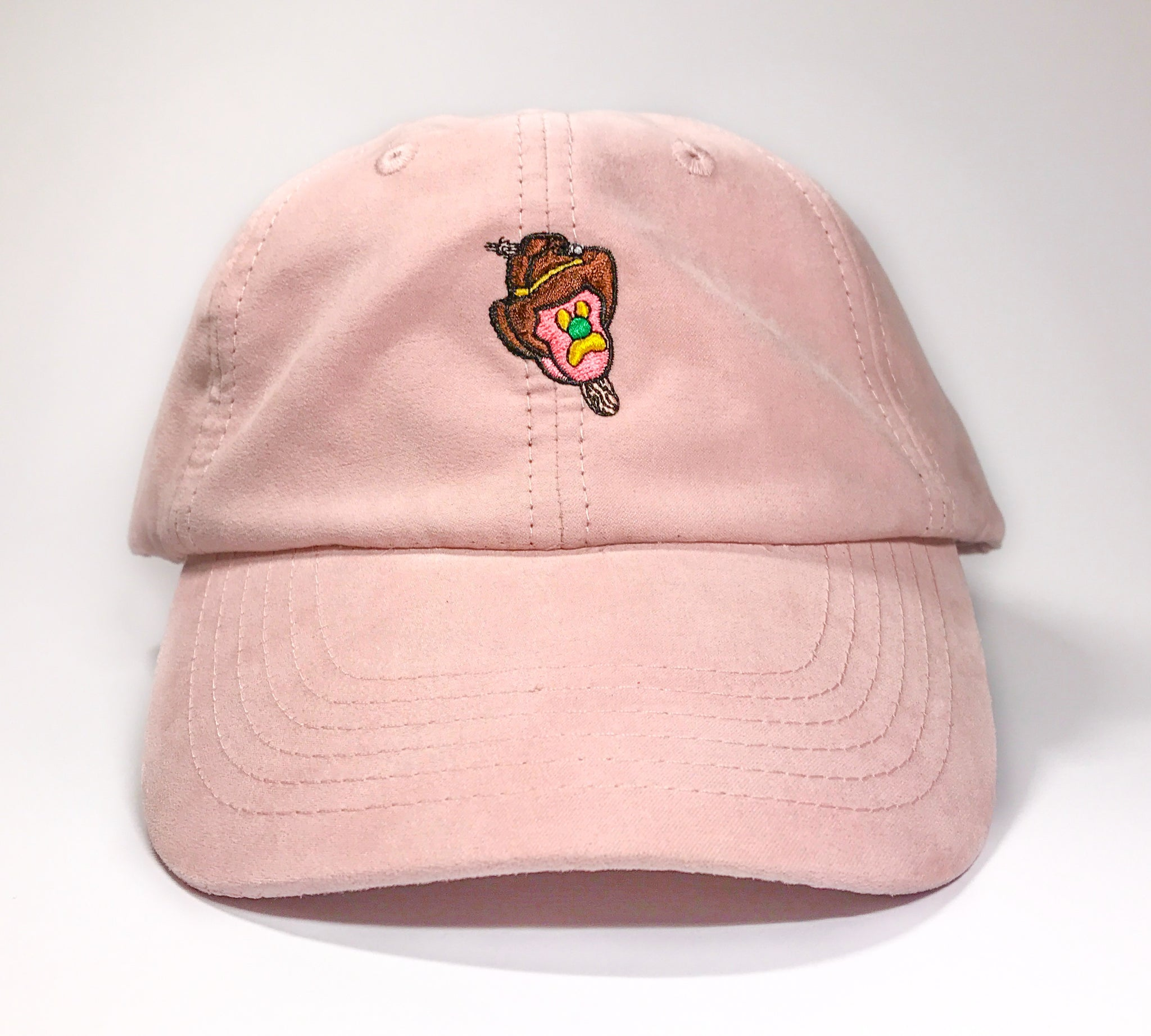 Pink Suede Cap - Lazy Waves