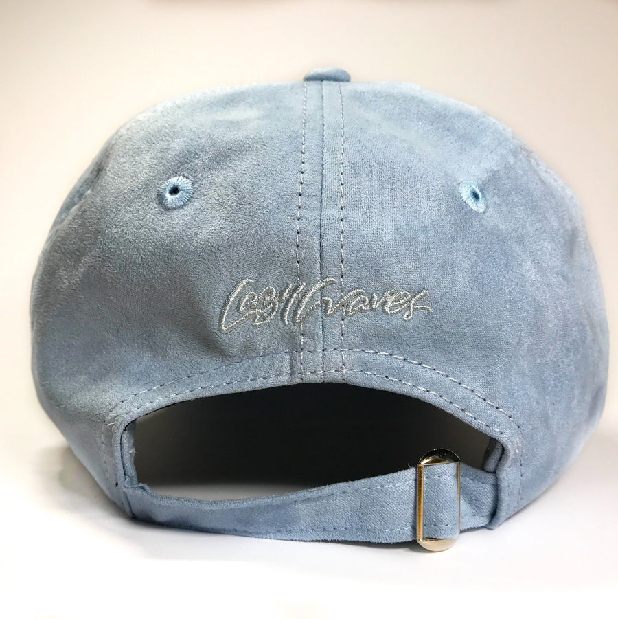 Baby Blue Suede Cap - Lazy Waves