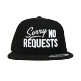 Sorry No Requests Snapback Hat (Grey/White)