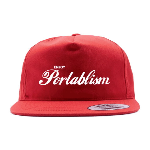 Enjoy Portablism Unstructured Snapback Hat