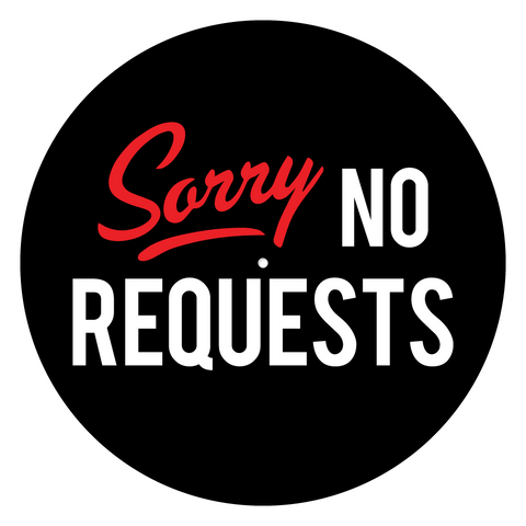 "Sorry No Requests 12"" Slipmats (Pair)"