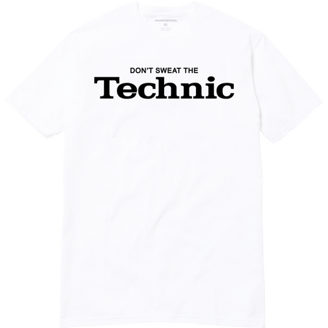 Don't Sweat The Technic T-Shirt (White)