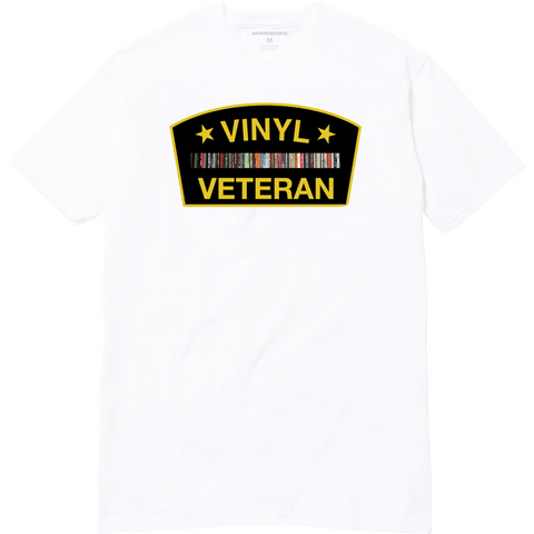 Vinyl Veteran T-Shirt (White)