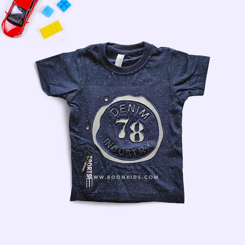 Boys Printed Blue T-Shirt