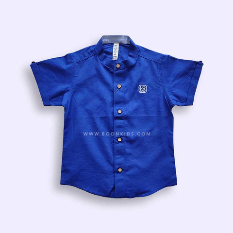 Boys Navy blue Half Sleeves Shirt