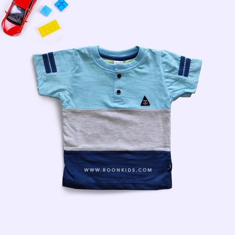 Half Sleeves Boys Multi Color T-Shirt