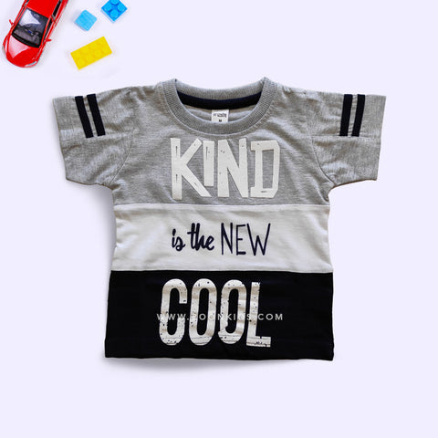 Half Sleeves Letters Printed Boys T-Shirt