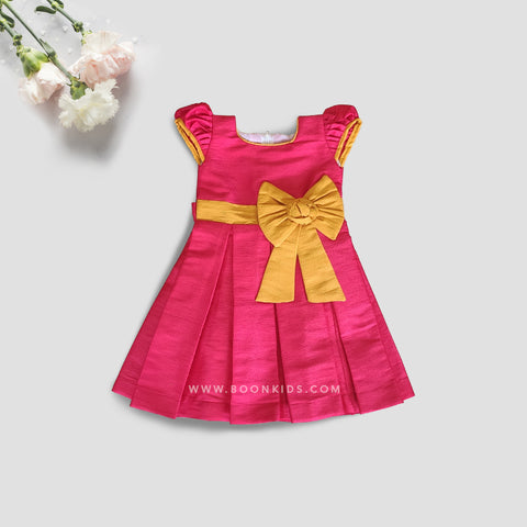 Pink and Yellow Butterfly Frock