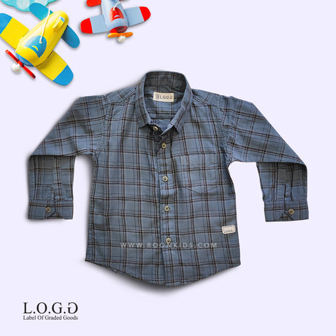 Boys Full Sleeves Check Cotton Shirt