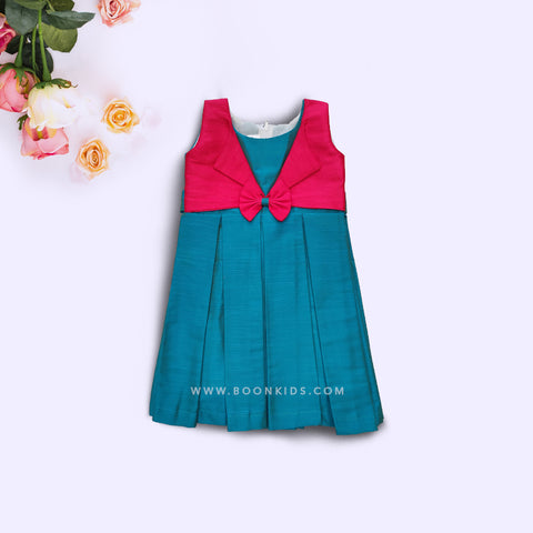 Blue and Rose wings frock