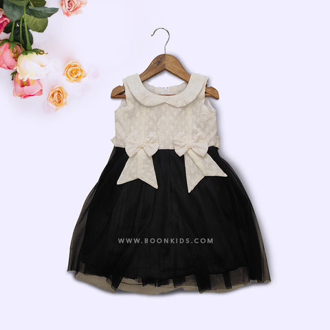 Black and Ivory Butterfly Frock