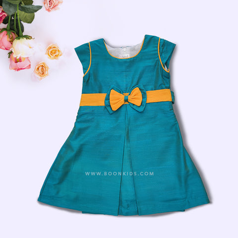 Blue and Yellow Butterfly Frock