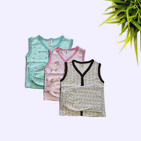 Newborn Jhabla Shorts Set of 3