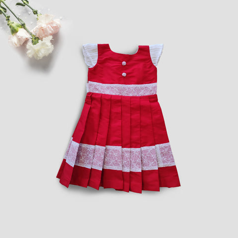 Red and White Fashion Beauty Frock