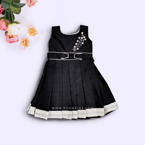 Classic Black Embroidery Frock