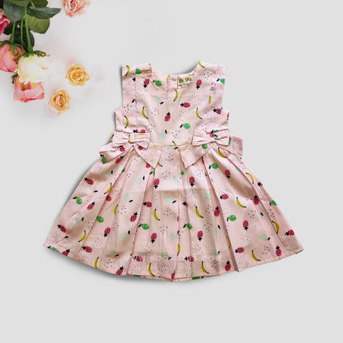 Cotton Frock Fruits Print
