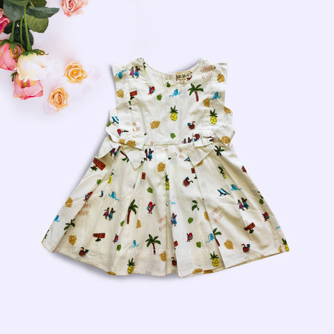 Cotton Frock Multi Print
