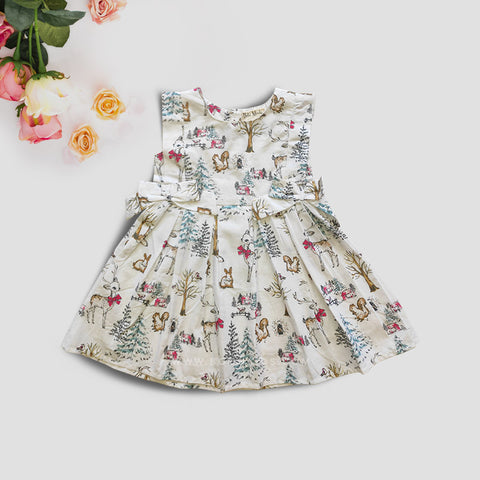 Cotton Frock Winter Print